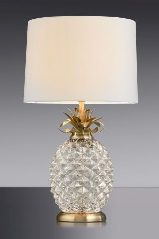 Buy Pineapple Glass Table Lamp From The Next UK Online