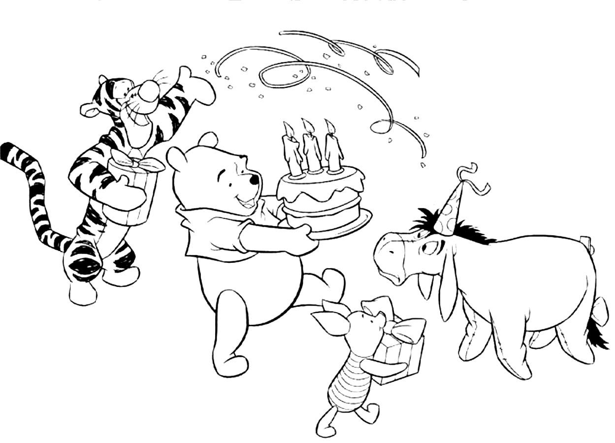 Image Result For Eeyore Birthday Coloring Page