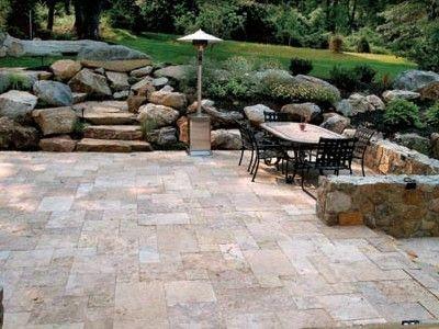 patio paver ideas | TRAVERTINE IS A CALCAREOUS STONE ... on Travertine Patio Ideas id=68312