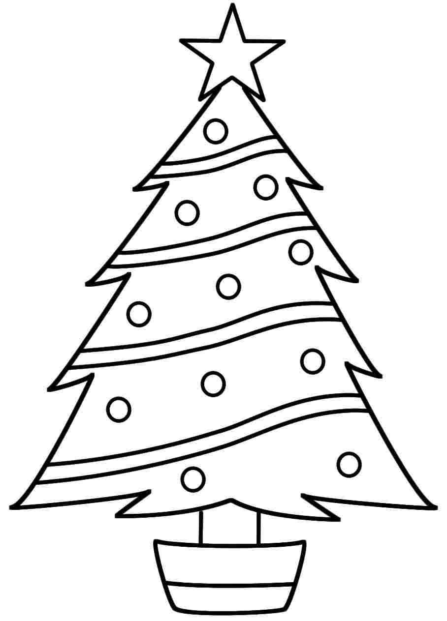 Printable Christmas Tree Coloring Pages At At Page Wednesday