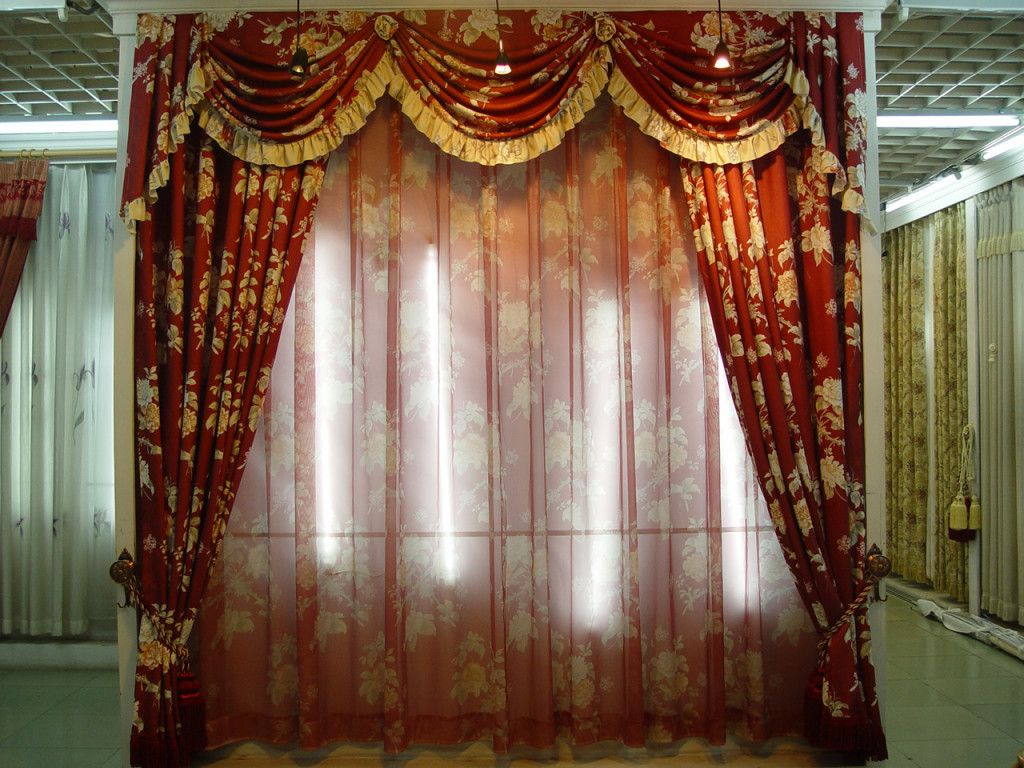 Country French Living Room Valance Curtains