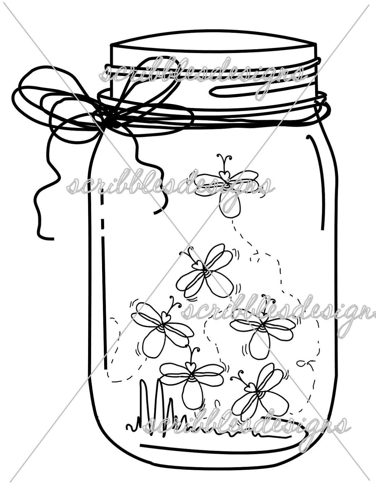 Mason Jar Drawing Clip Art Mason Jar
