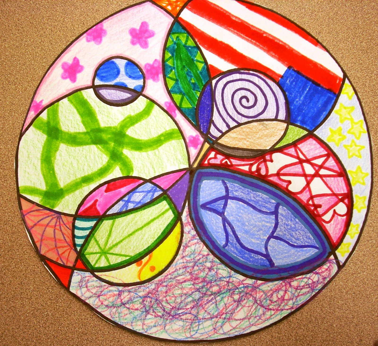 Abstract Circle Art Abstract Circles Assignment Was Given To The Upper Grade Students In The