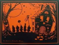 halloween real estate cards