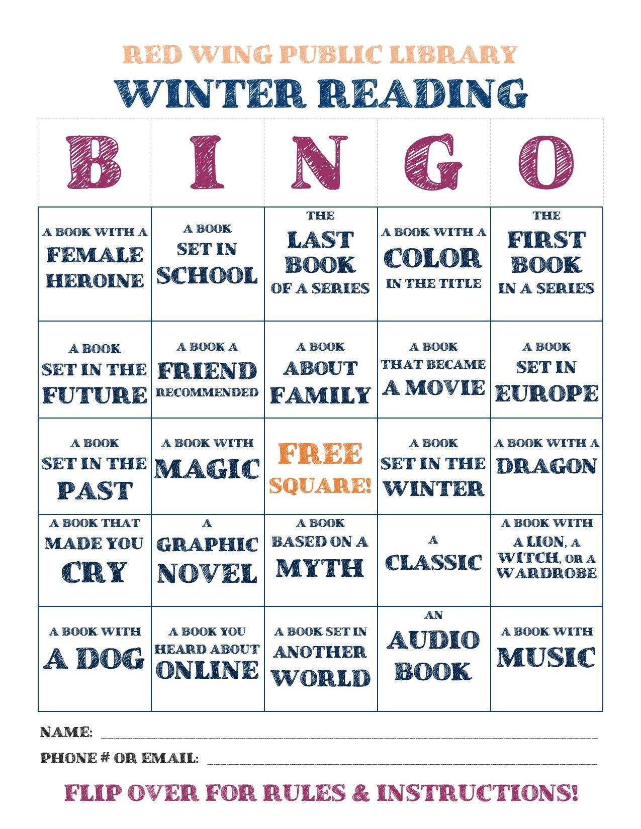 Reading Bingo Homework