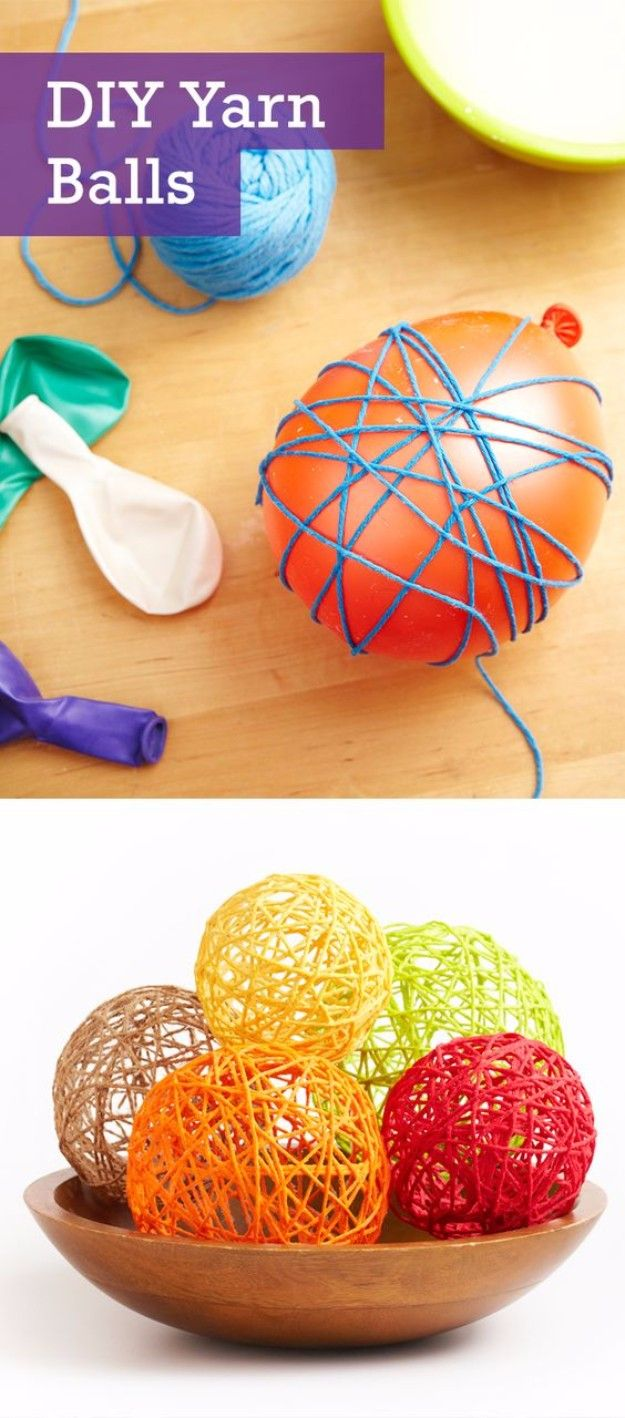 Easy Crafts To Make and Sell – Cute Yarn Balls – Cool Homemade Craft Projects You