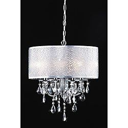 Chrome 3 Light Black Shade Crystal Chandelier Ping Great Deals On