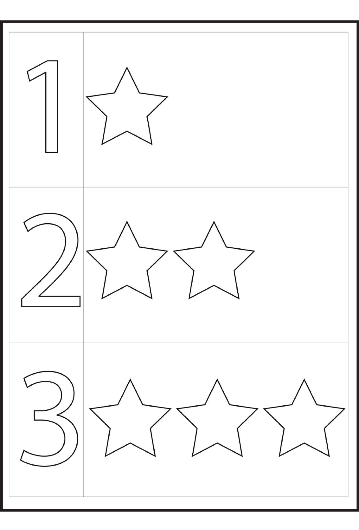 Tracing Numbers 1 5 For Easy Mathematics Project