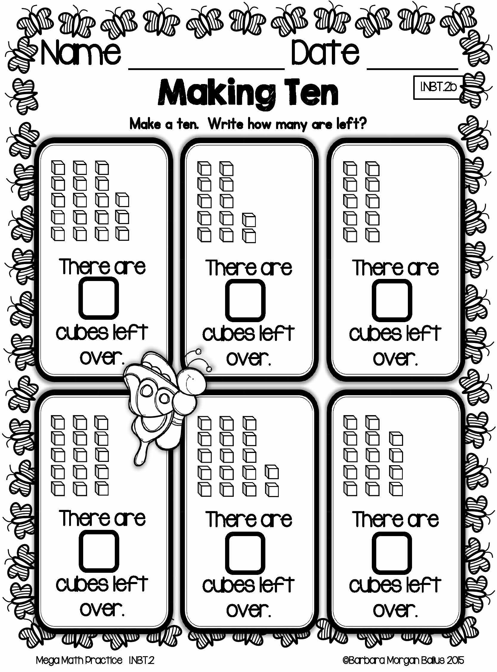 First Grade Math Place Value Mega Math Practice Spring 1