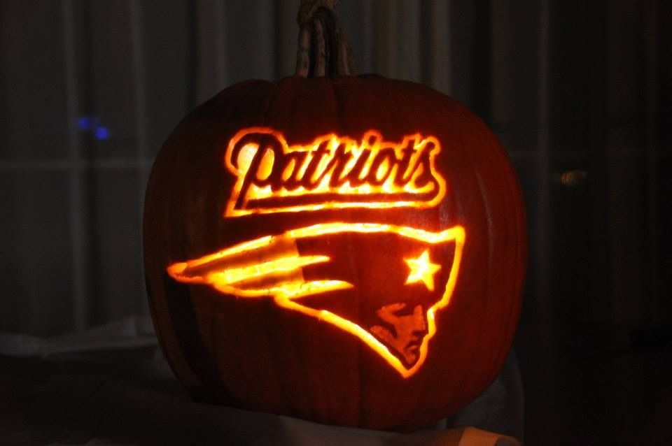 Patriots Pumpkin How Cool Is This Ne Patriots