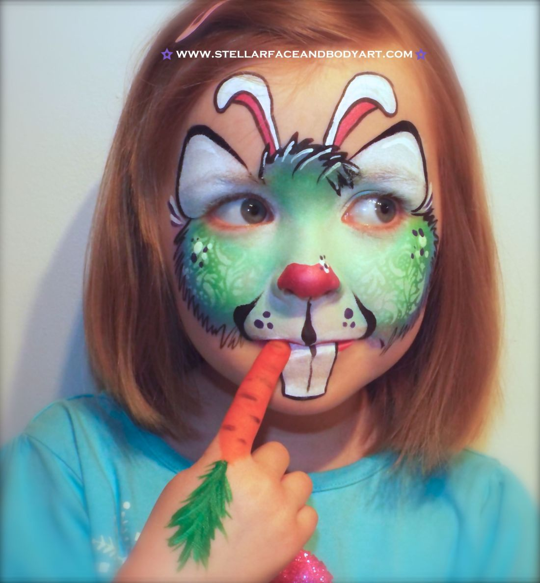 Easter bunny face painting crafty things pinterest