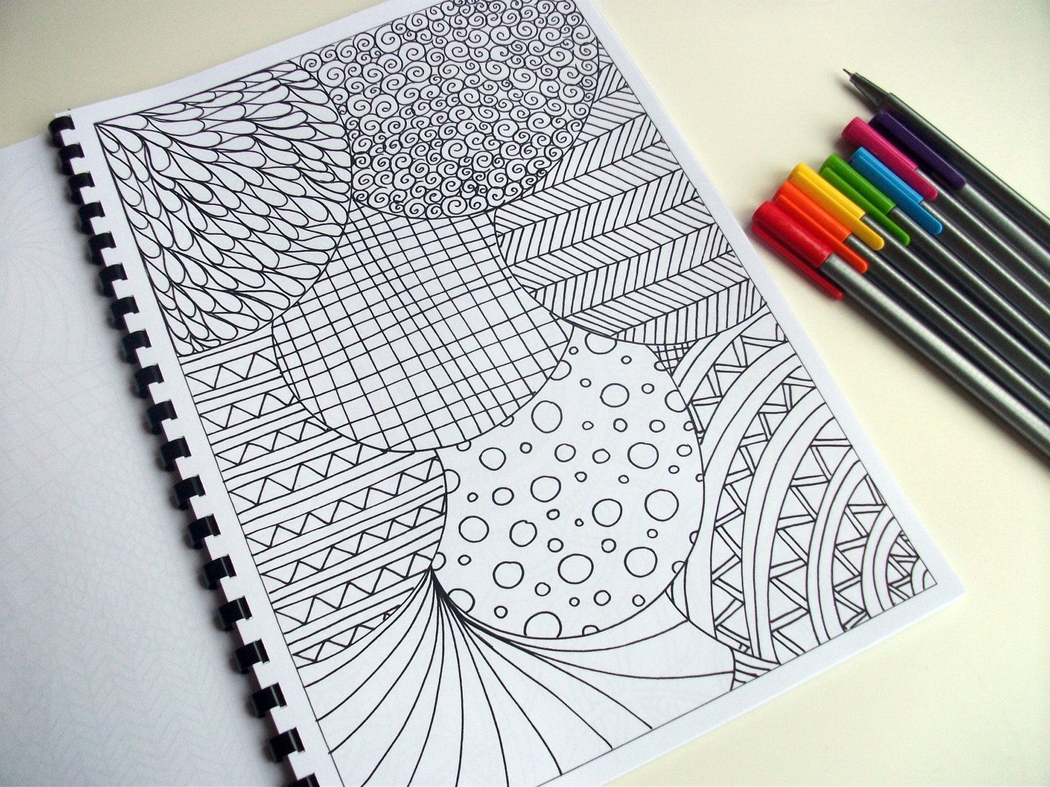 Abstract Art Coloring Pattern Zentangle Inspired