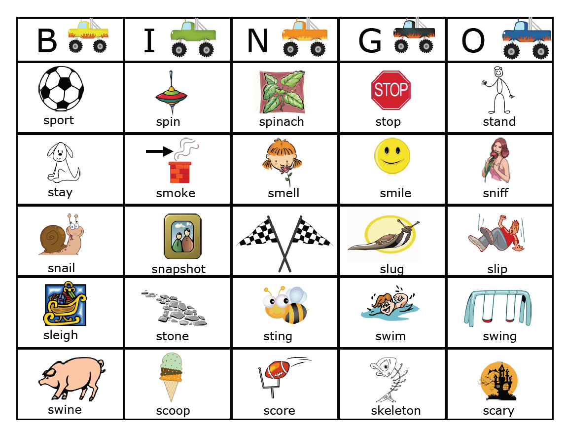 S Blend Monster Trucks Bingo And Link To More