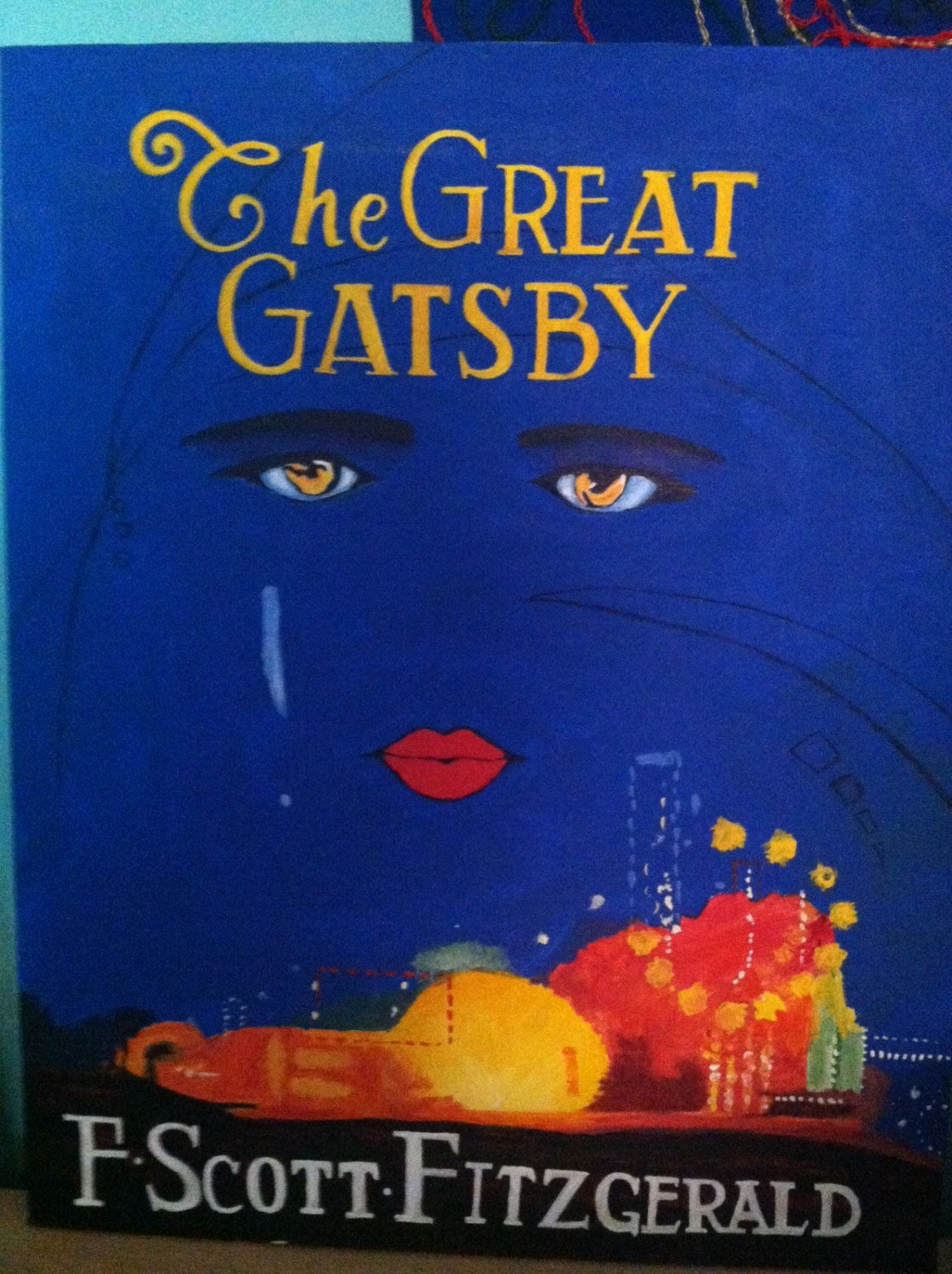 The Great Gatsby Iconic Book Cover Reproduction By