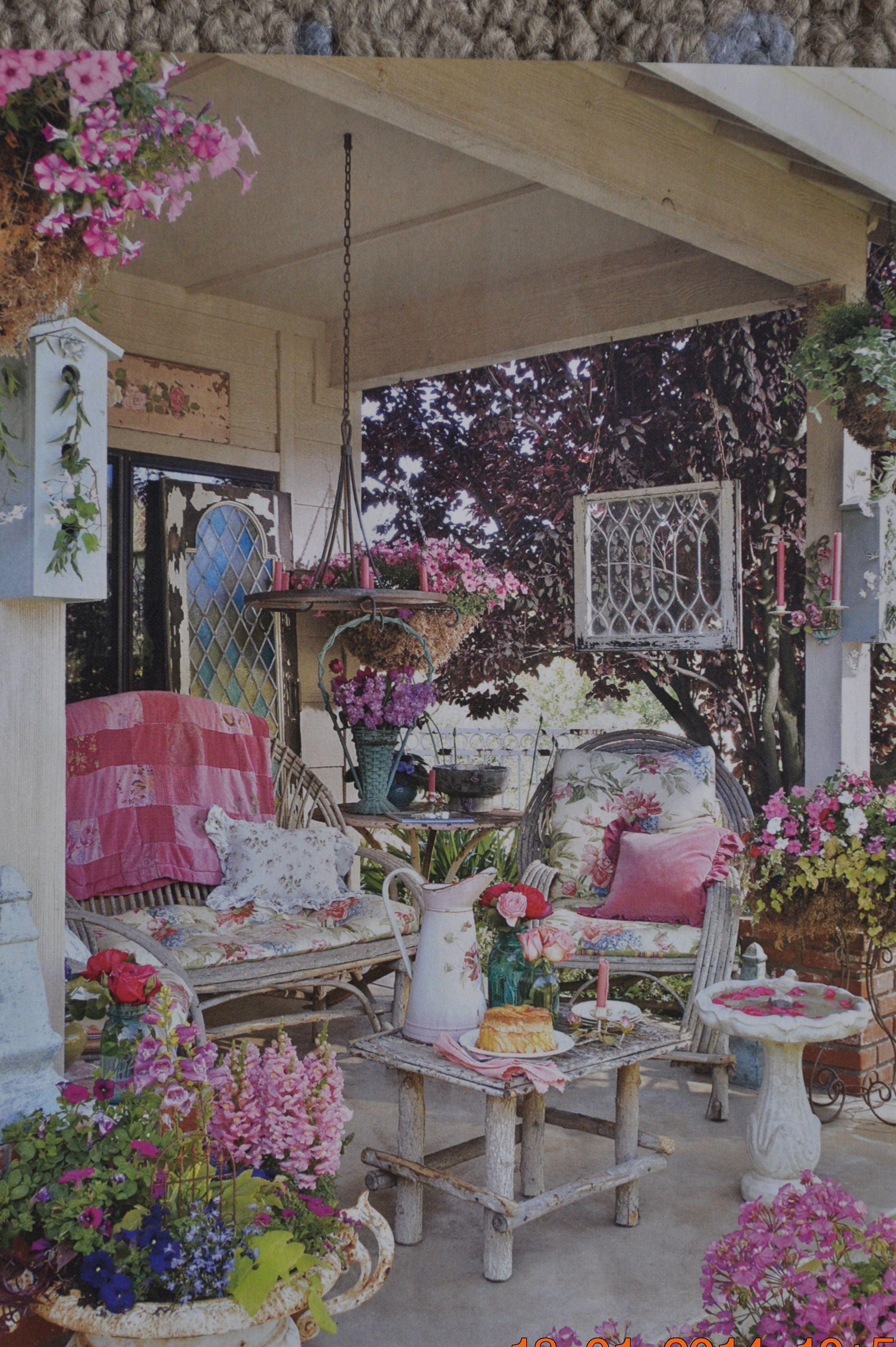 Shabby Chic Garden Ideas | Homsgarden on Chic Patio Ideas id=38830