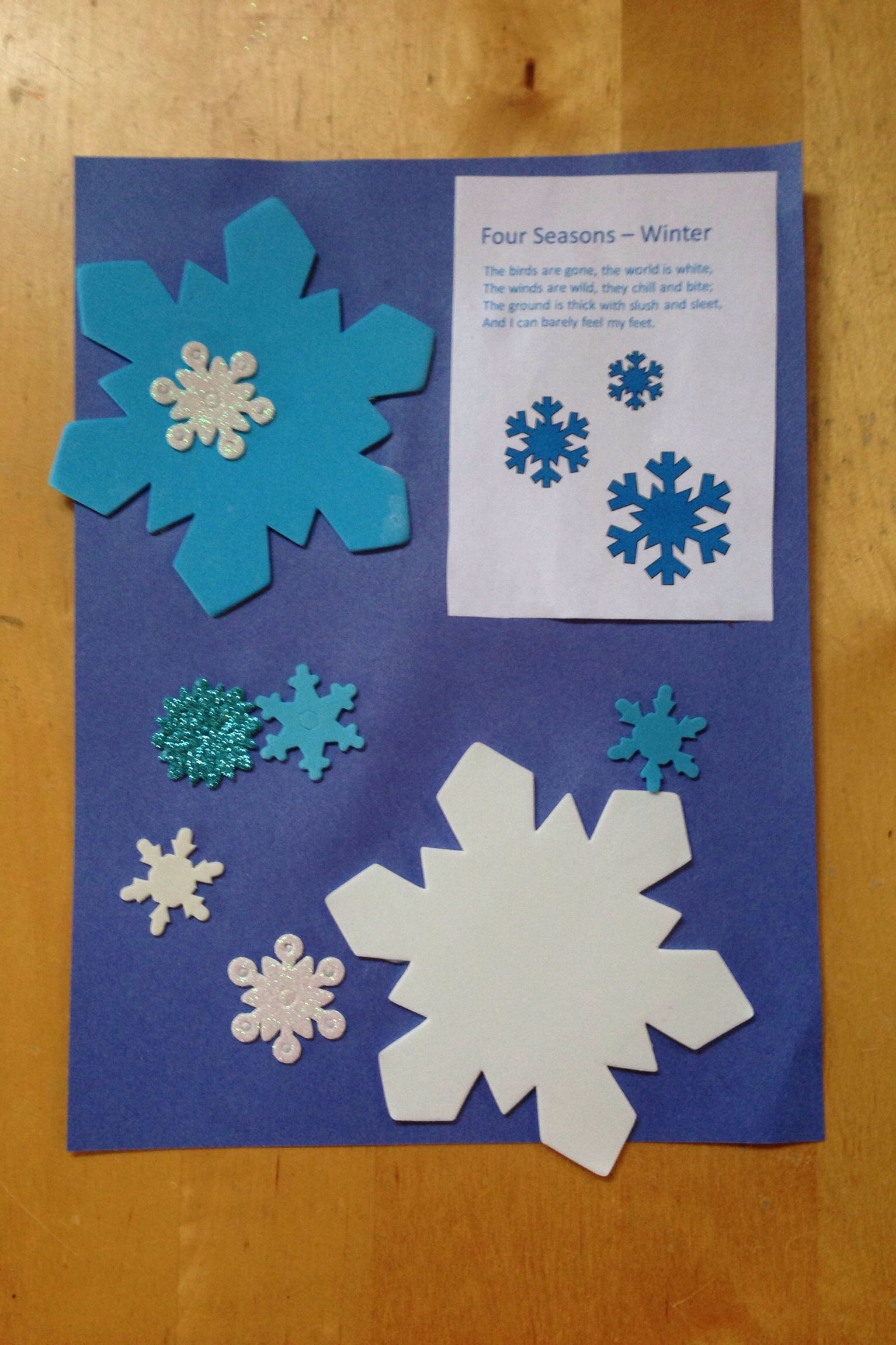 Winter Theme Preschool Craft With Poem Photo Kathleen