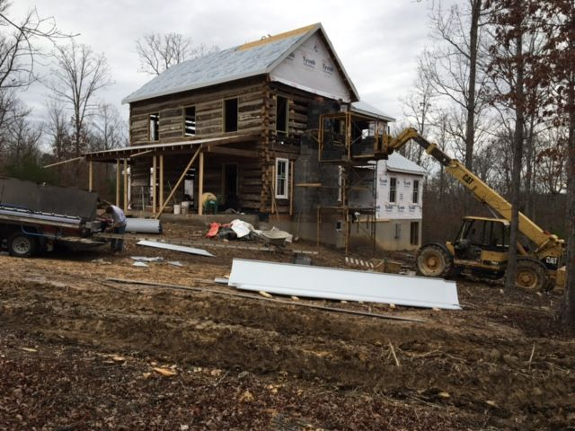 Log Cabin in Charlottesville, Virginia being built by Spear Builders of Virginia, Inc. in 2017