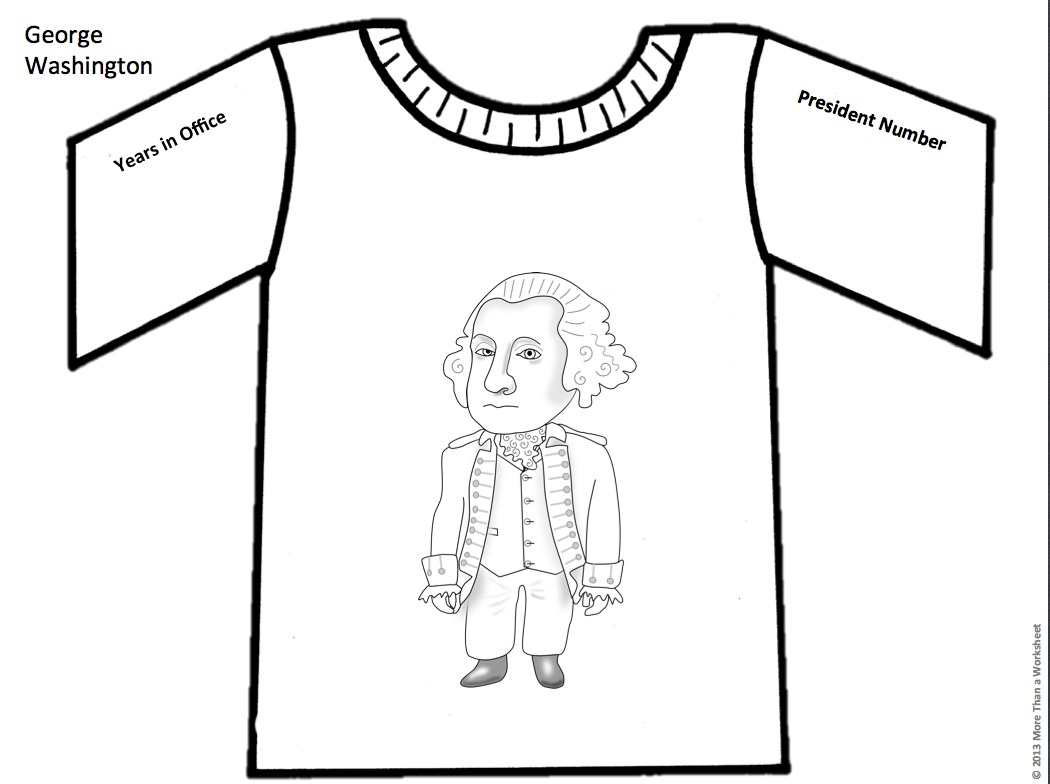 Have Students Research A President Then Design A T Shirt Fun Take On Research Project Grades 3