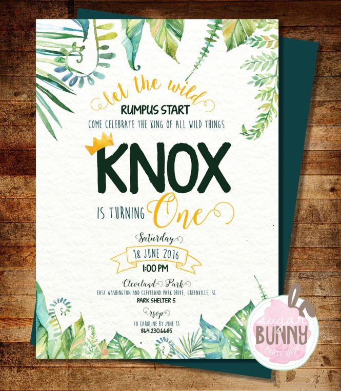 Where The Wild Things Are Baby Shower Invitations | PaperInvite