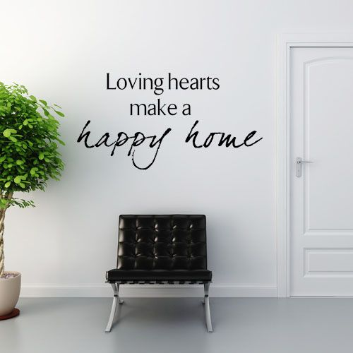 loving hearts make a happy home wall sticker decals on wall stickers for home id=12182