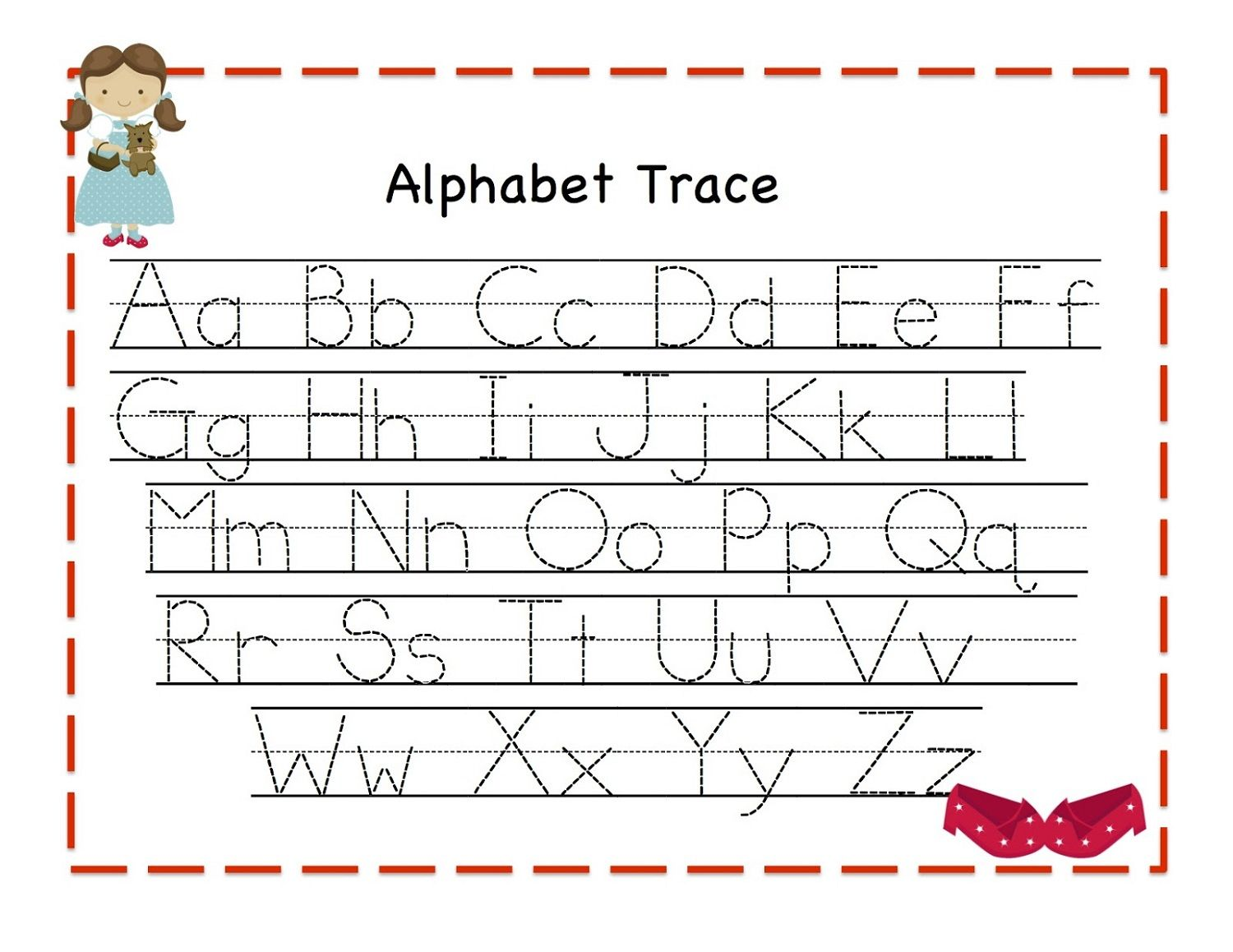 Traceable Alphabet For Learning Exercise