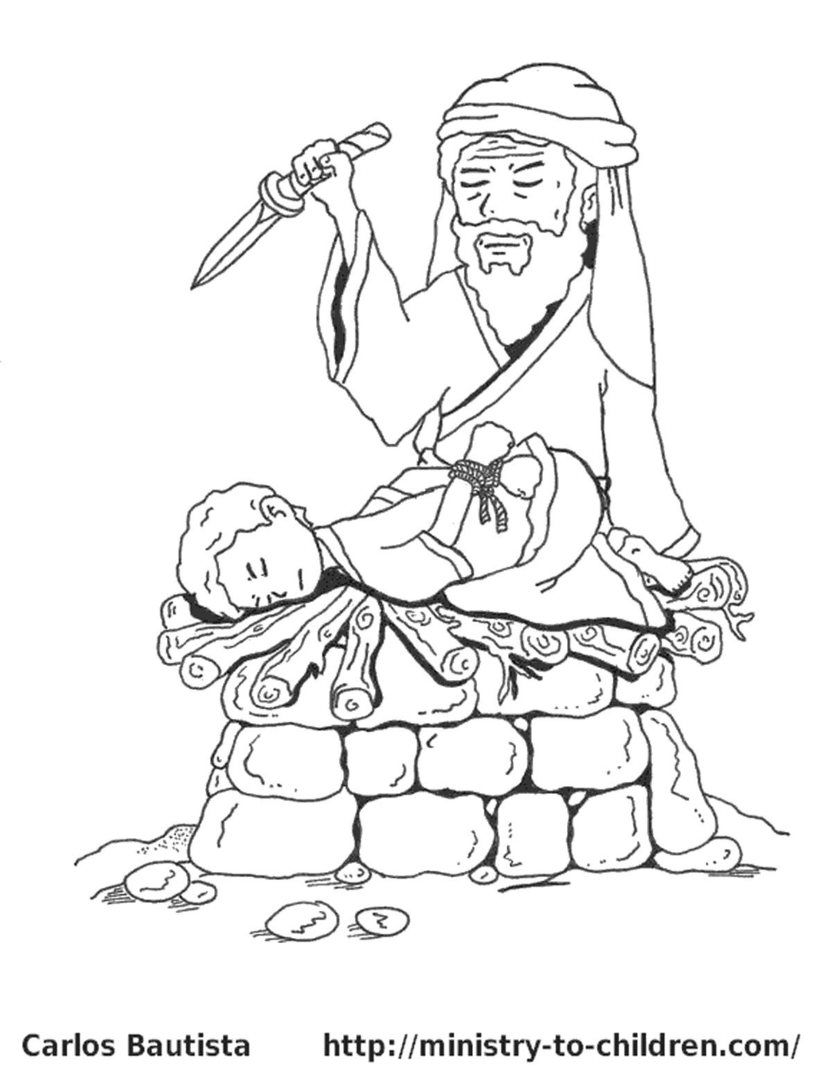 Abraham And Sarah Story Coloring Pages