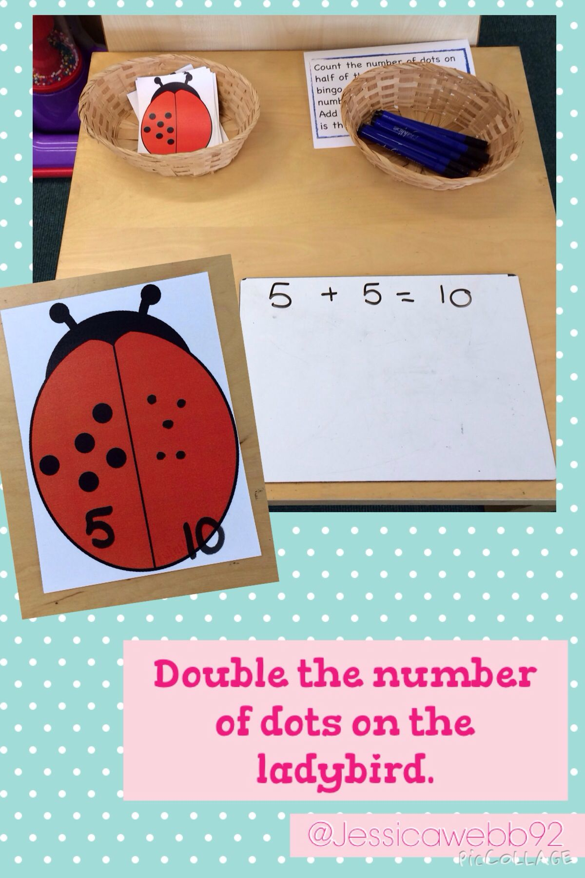 Double The Number Of Dots On The Ladybirds Wings