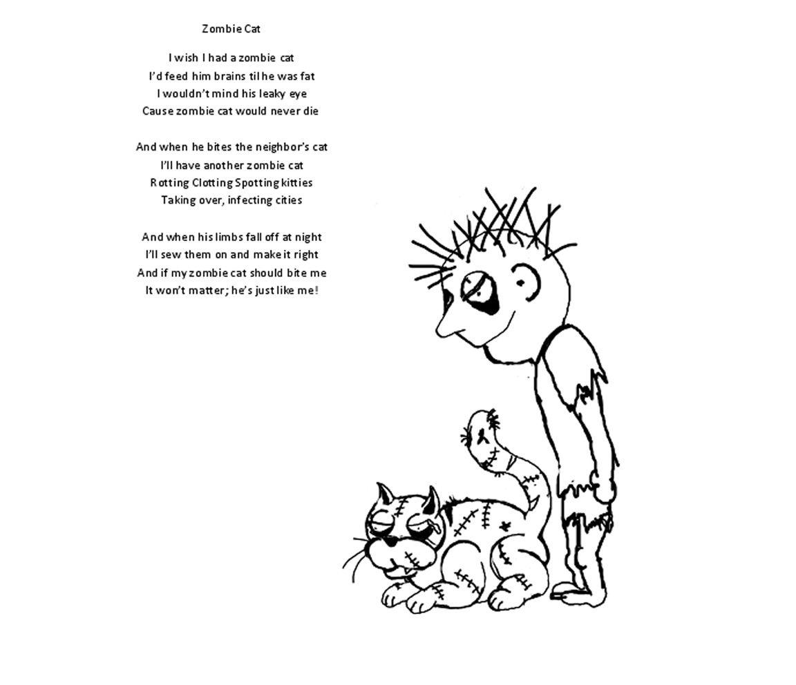 Zombie Cat Poem By Shel Silverstien