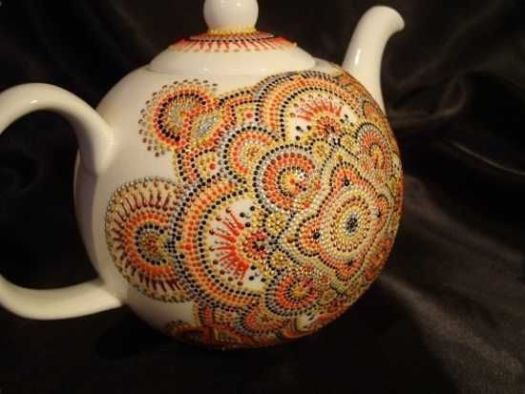 Amazing Painting Ideas Turning Ceramic Tea Potugs Into Artworks