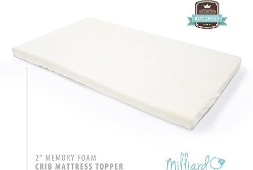 Milliard 2 Inch Ventilated Memory Foam Crib Toddler Bed Mattress Toppe Review