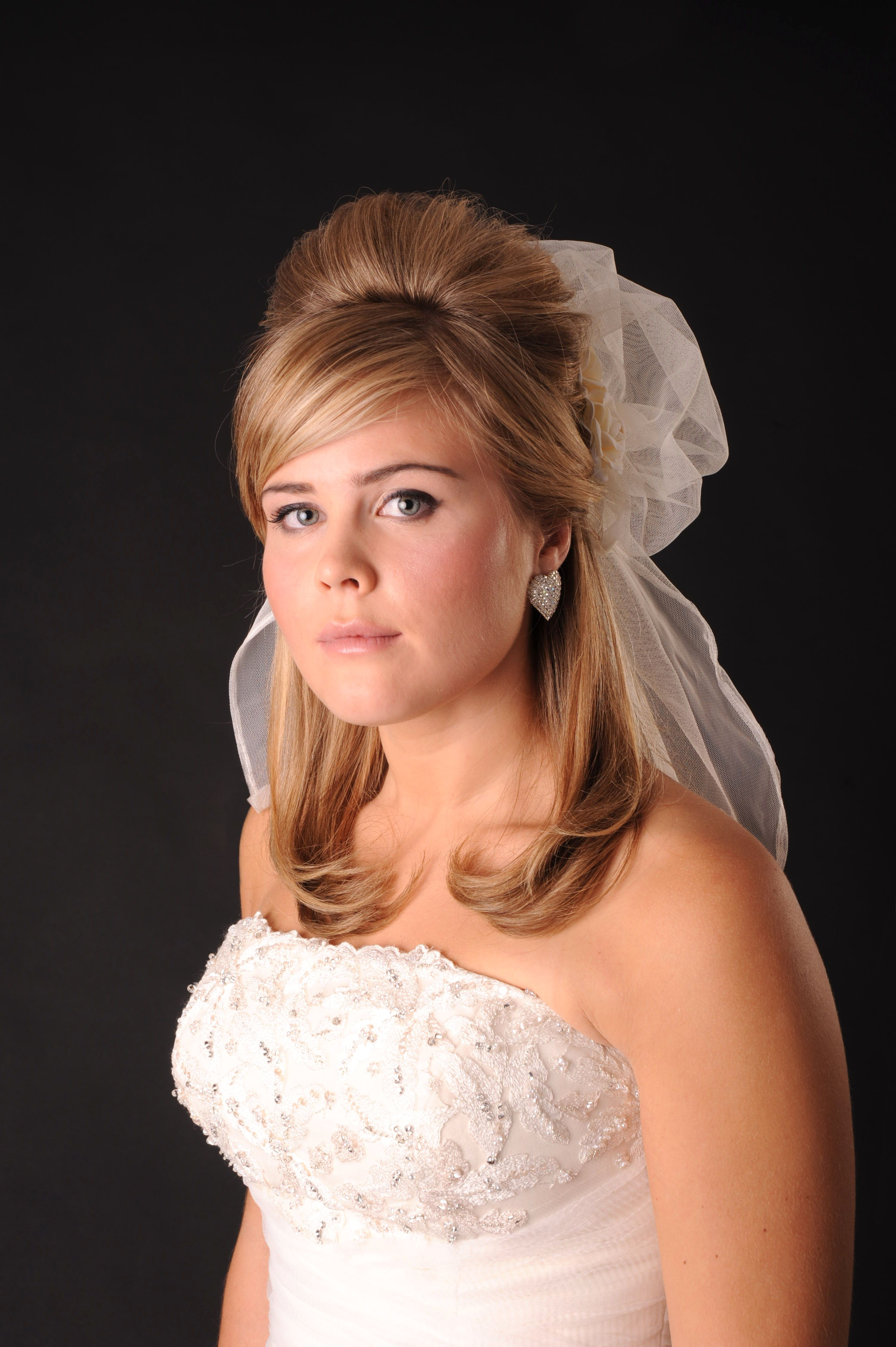 Classic bridal hairdo with veil Our Wedding Hairstyles