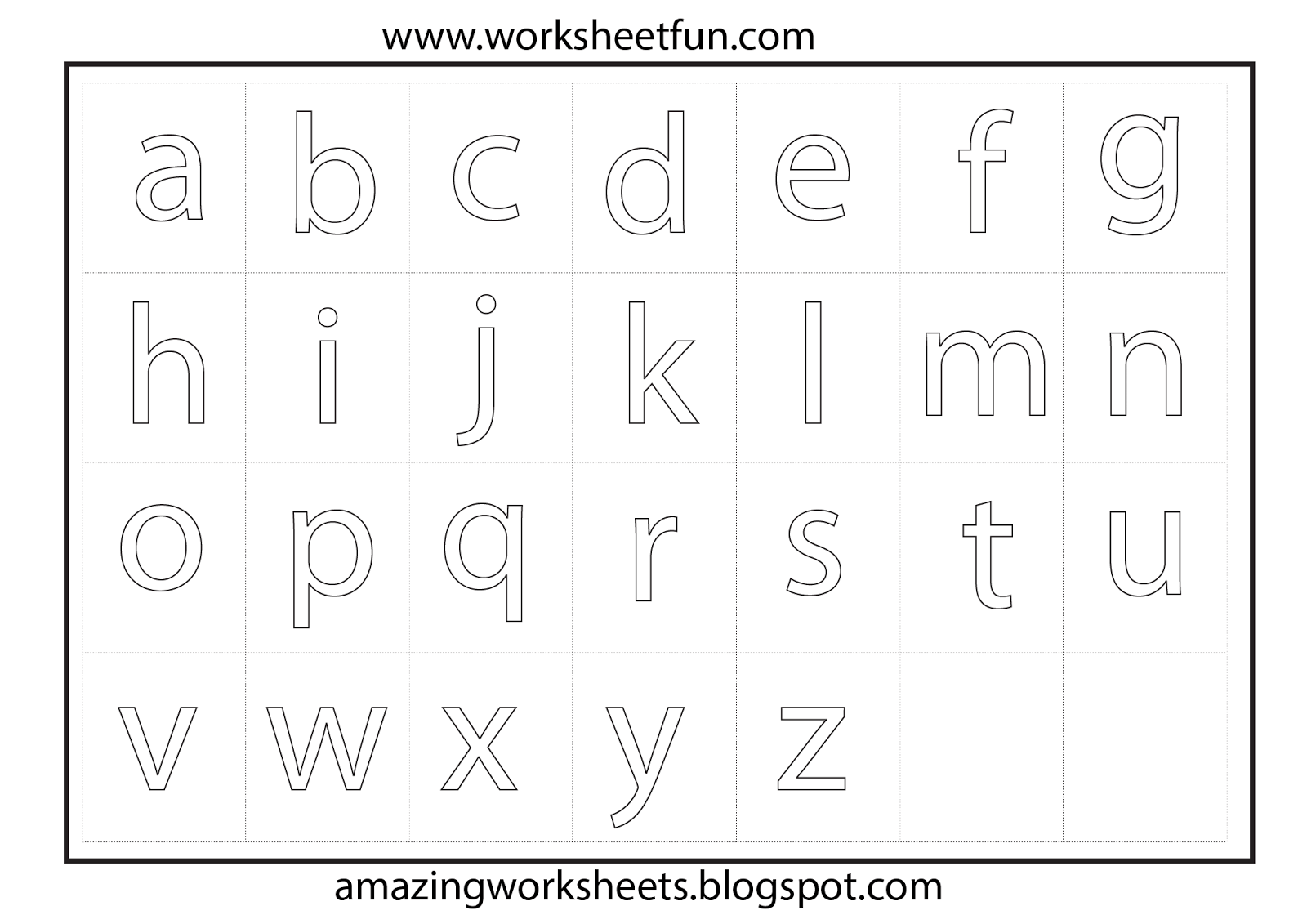 Alphabet Tracing Worksheets A To Z