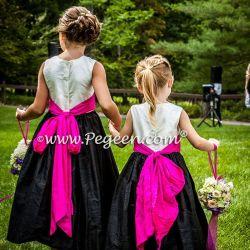 c31329cbe Pink And Black Wedding Flower Girls Dresses | Gardening: Flower and ...