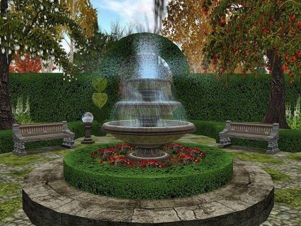 english garden fountains water features Outdoor+Fountain+Plans   English Garden Fountain Ideas