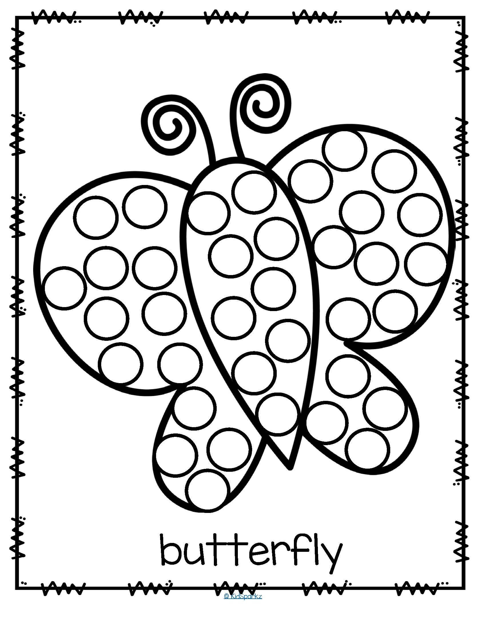 Bingo Dauber Art Coloring Page