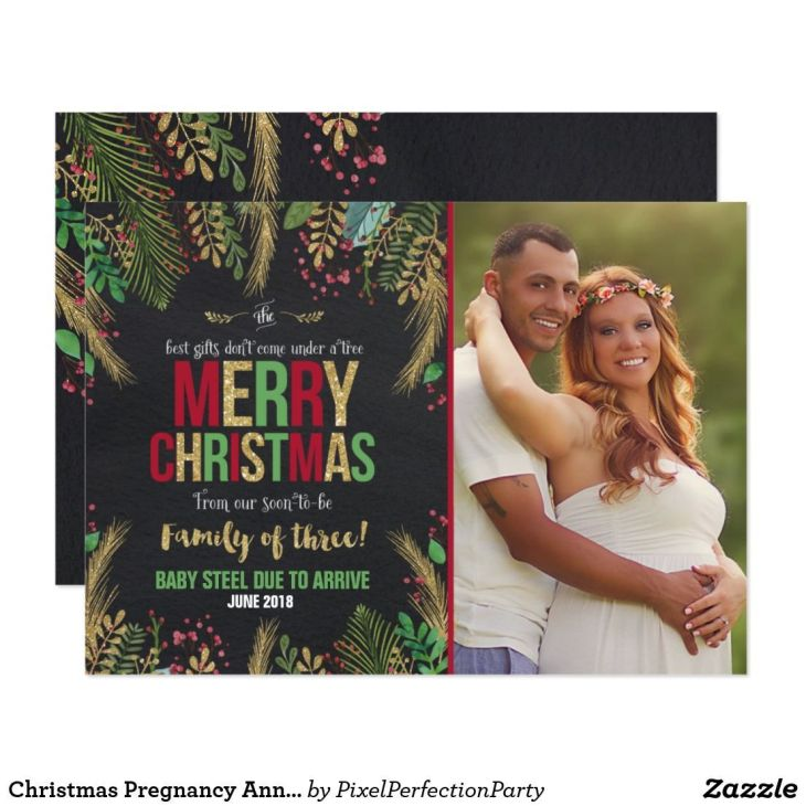 Christmas pregnancy announcement christmas card pregnancy ...