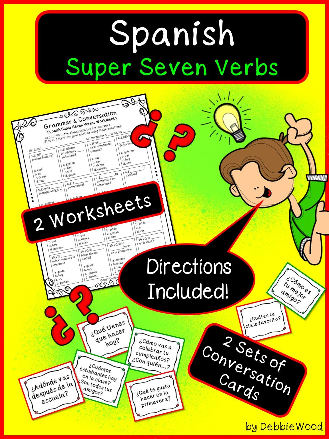 Spanish Back To School Activities Present Tense Verb Worksheets And Conv