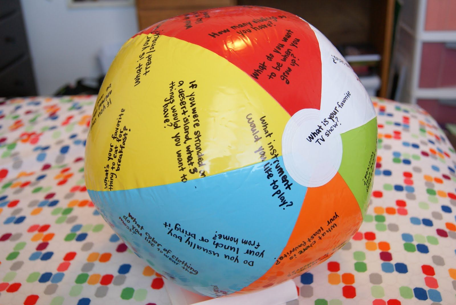 Beach Ball Questions Game I Made This When I Worked As A
