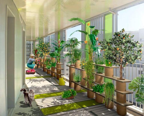 indoor gardens apartment design Vertically, that's how! Modular Planters & Stackable