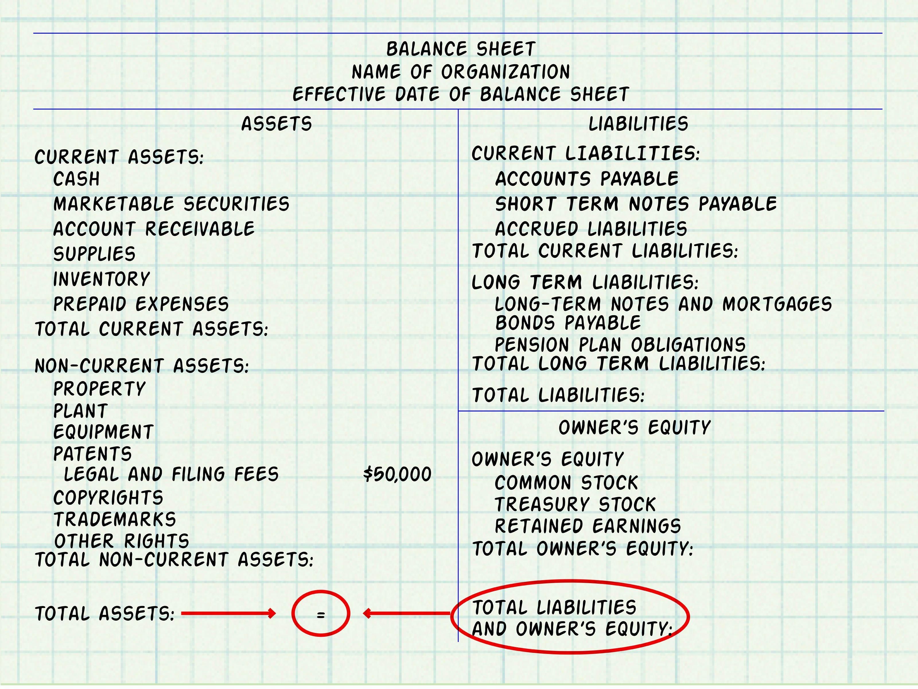 Make A Balance Sheet For Accounting