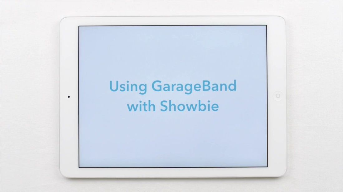 Using showbie to gather garageband student assignments