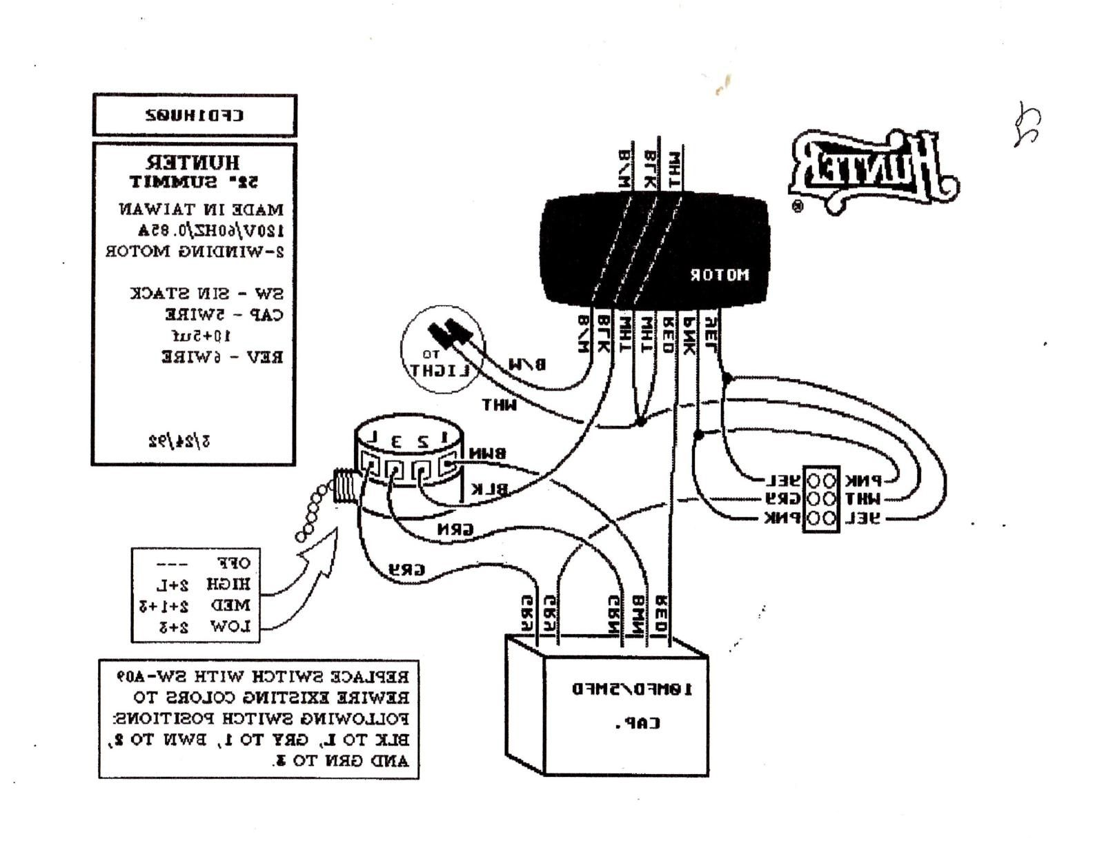 Hunter Fan Light Kit Wiring Schematic