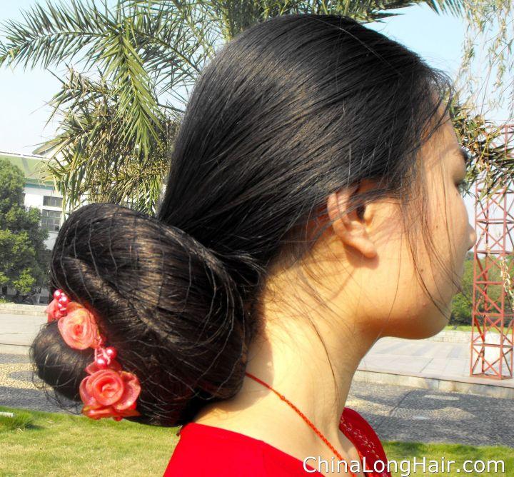 Feng Ye huge low bun Buns and Braids Pinterest