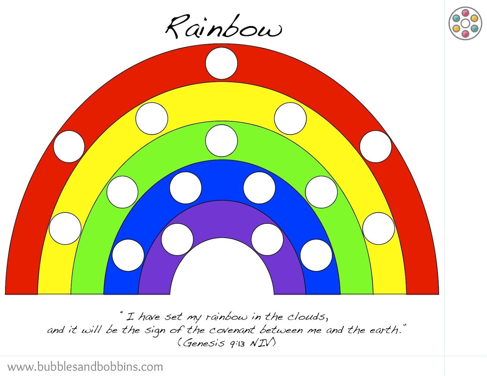 Rainbow Magnetic Pompom Template 1 600 1 236 Pixels