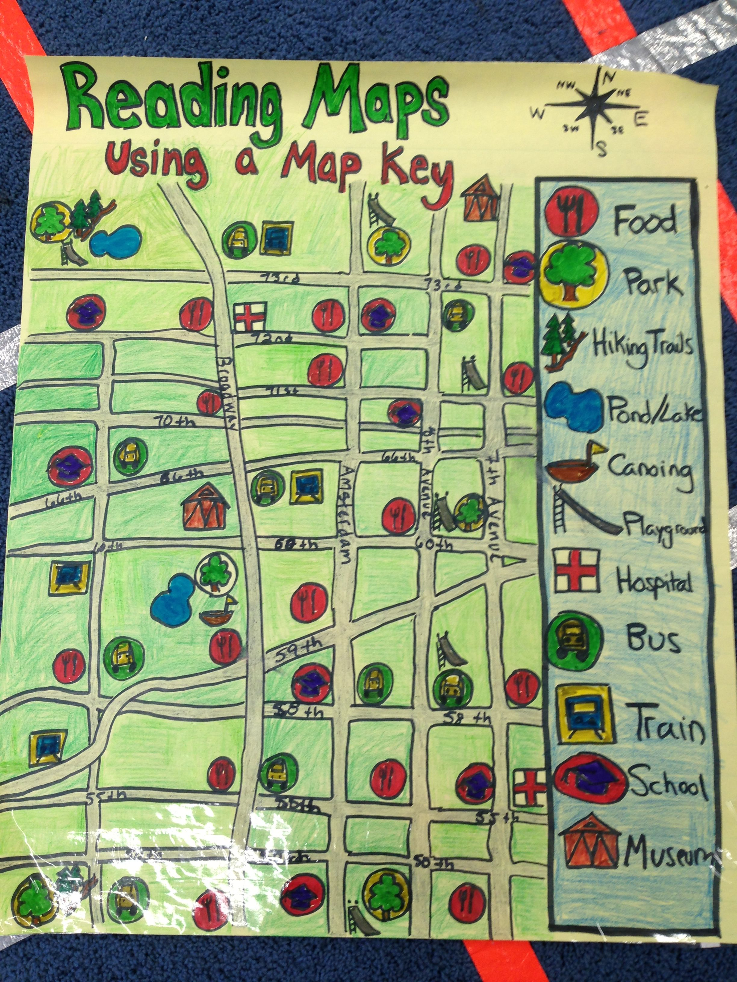 Reading Maps Using A Map Key