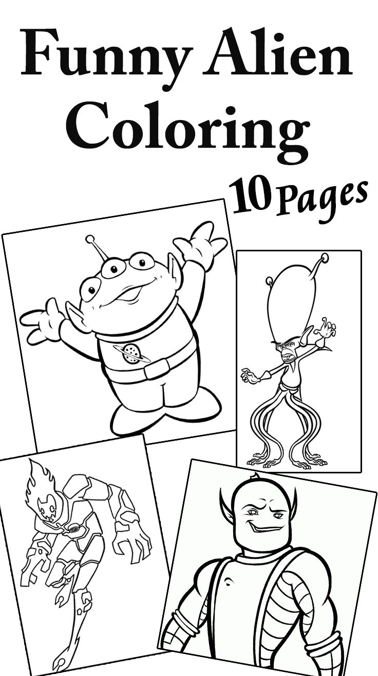 Top 10 Free Printable Funny Alien Coloring Pages Online Free