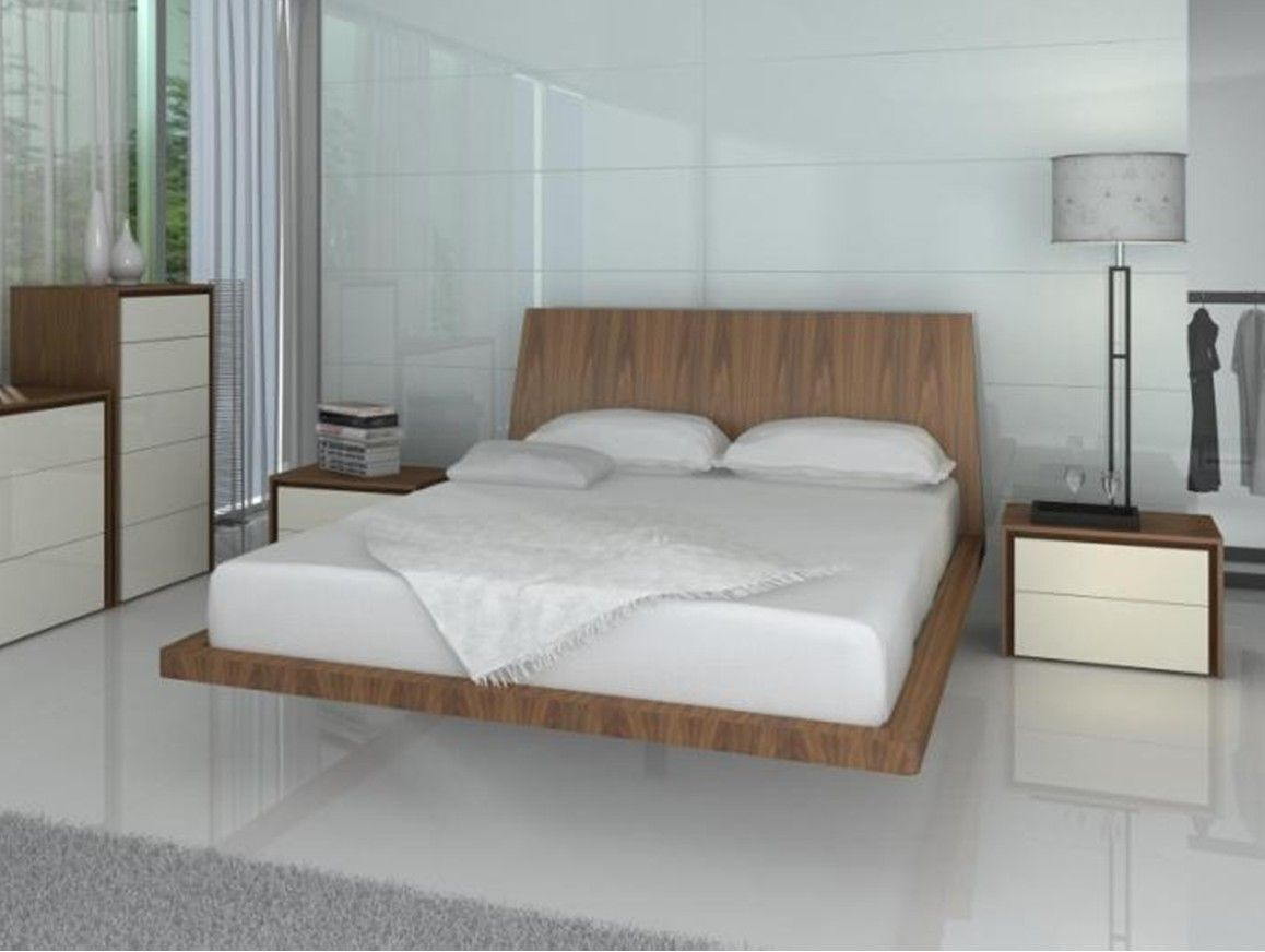 Furniture Enticing Floating Bed Design With Style King