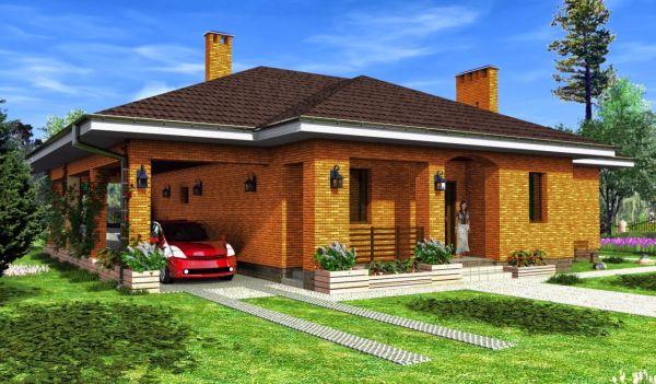 дизайн одноэтажного дома с навесом - Поиск в Google ...