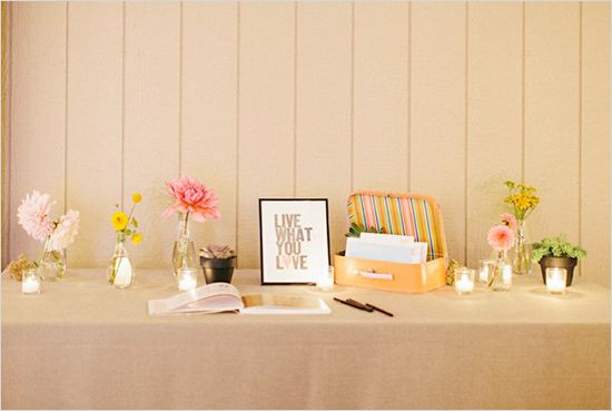 Guest Book Table Decor Ideas