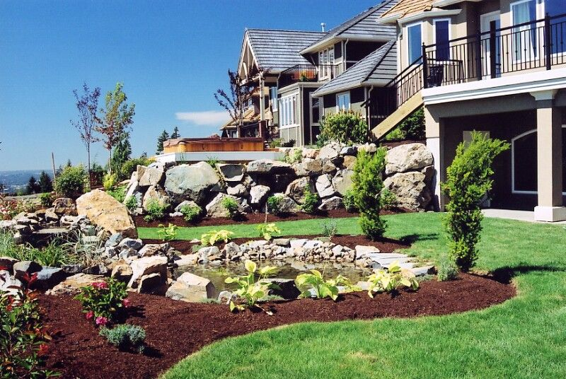 landscapes ideas sloped front yard landscaping ideas small ... on Small Sloped Backyard Ideas On A Budget  id=29425
